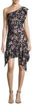 Isabel Marant Rose Fil Coupe One-Shoulder Minidress
