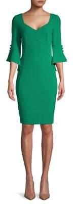 Calvin Klein Flared-Sleeve Sheath Dress