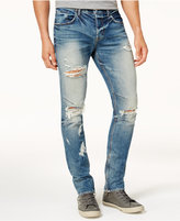 Hudson Men's Slouchy Skinny-Fit Ripped Jeans