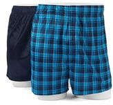 Croft & Barrow Big & Tall 2-pack Solid & Patterned Microfiber Boxers