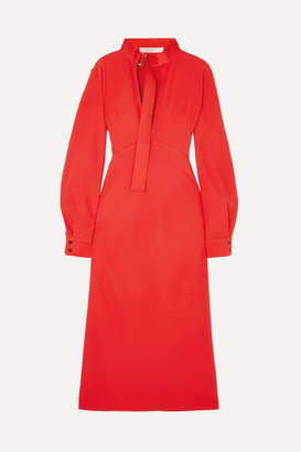 Victoria Beckham Cutout Cady Midi Dress - Red