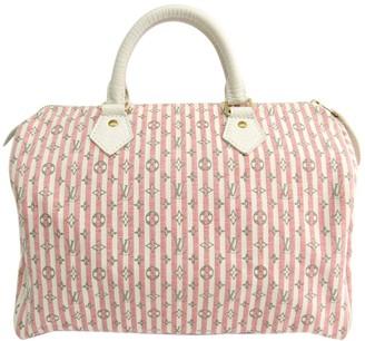 Louis Vuitton Speedy Pink Cloth Handbags