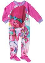 DreamWorks Trolls Toddler Girl Hug Time Footed Pajamas Blanket Sleeper
