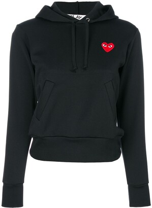 Comme des Garcons Heart-Patch Hoodie