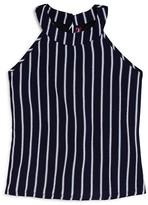 Aqua Girls' Striped Swing Top , Big Kid - 100% Exclusive