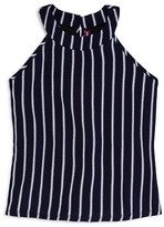 Aqua Girls' Striped Swing Top , Sizes S-XL - 100% Exclusive