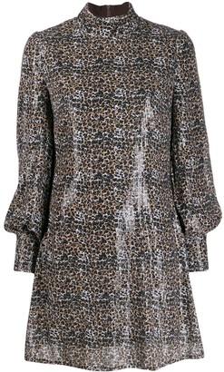 Olivia Rubin Melissa leopard print sequinned dress