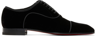 Christian Louboutin Black Greggo Lace-up Derbys