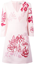 Fendi embellished shift dress - women - Wool/Silk - 40