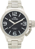 TW Steel Canteen Bracelet Mens Black Dial Two-Tone Stainless Steel Link Watch