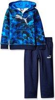Puma Little Boys' Toddler 2 Piece Printed Fleece Hoodie and Pant Set