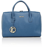 Just Cavalli WOMEN'S BOXY SATCHEL-BLUE
