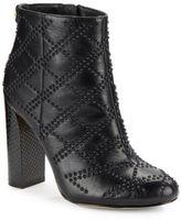 Calvin Klein Jamine High-Heel Studded Leather Booties