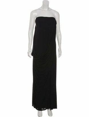 Alexander McQueen Strapless Midi Dress Black