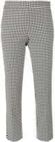 Max Mara dogtooth capri trousers - women - Spandex/Elastane/Viscose/Virgin Wool - 6