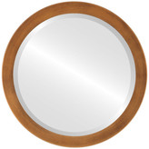 The Oval And Round Mirror Store Vienna Framed Round Mirror, Sunset Gold, 26x26