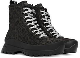P448 Women's Denise Animal Print Platform Sneaker Booties