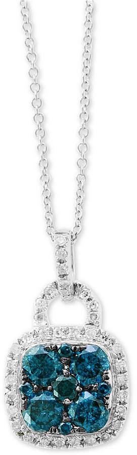"Effy Diamond 18"" Pendant Necklace (7/8 ct. t.w.) in 14k White Gold"