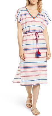 Velvet Stripe Caftan Dress