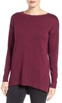 Caslon Zip Back High/Low Tunic Sweater (Regular & Petite)
