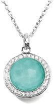 Ippolita Stella Lollipop Pendant Necklace in Turquoise Doublet with Diamonds