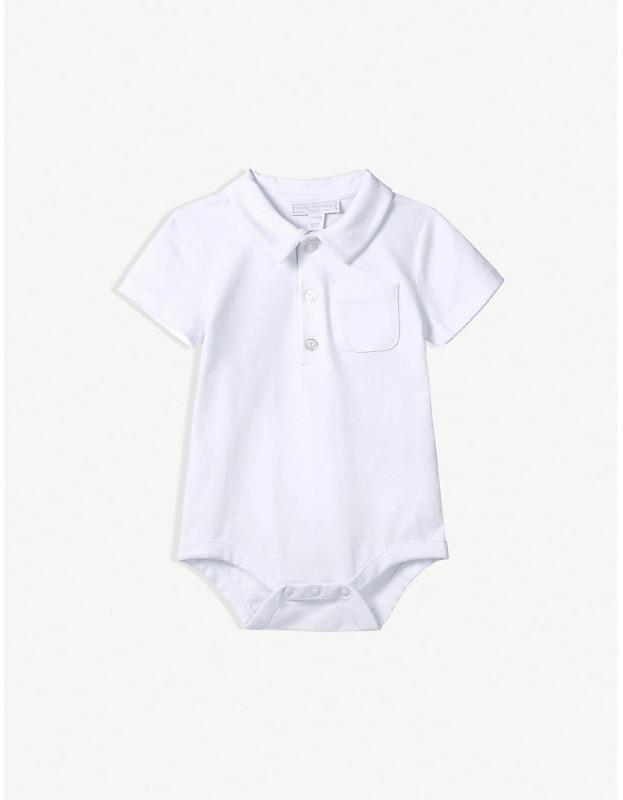 d1342d8b599d1 Baby Polo Bodysuit White - ShopStyle
