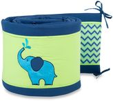 Pam Grace Creations Zig Zag Elephant Crib Bumper
