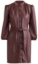 Thumbnail for your product : Shoshanna Tallen Faux Leather Shirtdress