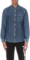 Kenzo Embroidered Tiger-motif Denim Shirt