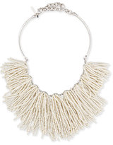 Lele Sadoughi Weeping Willow Pearly Tassel Bib Necklace