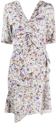 Isabel Marant Floral-Print Ruched Dress