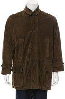 Ralph Lauren Purple Label Suede Cashmere-Lined Coat