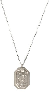 Dogeared Protect Me, Hamsa Tablet Necklace, 18