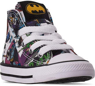 Converse Toddler Boys Chuck Taylor All Star Dc Comics Batman High Top Casual Sneakers from Finish Line