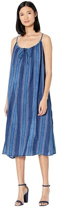 True Grit Dylan by Cotton Sloan Stripe Dress (Indigo) Women's Clothing