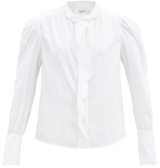 Etoile Isabel Marant Orlana Broderie Anglaise-trimmed Cotton Blouse - White