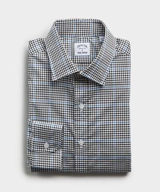 Hamilton Made in the USA + Todd Snyder Plaid Shirt in Black And Blue