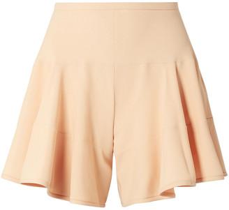 Chloé Paneled Crepe Shorts