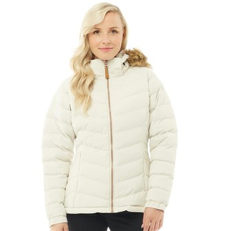 Trespass Womens Nadina Padded Hooded Jacket Vanilla