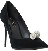 Dune Black Sand Buckinghamm Crystal Ball Court Shoes, Black