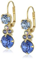 "Sorrelli Sweet Sapphire"" Clustered Circular Crystal Drop Earrings"