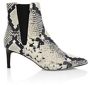 Joie Women's Ralti Snakeskin-Embossed Leather Ankle Boots