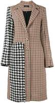 Ellery Contrast check coat