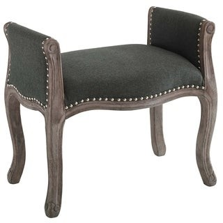 Modway Vintage French Upholstered Fabric Bench