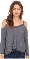 Culture Phit Alessia Ribbed Cold Shoulder Top