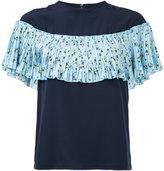 Le Ciel Bleu floral print pleated top - women - Polyester - 34