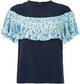 Le Ciel Bleu floral print pleated top - women - Polyester - 36