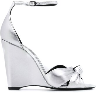 Saint Laurent Metallic 105 Wedge Sandals