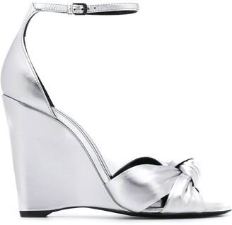 Saint Laurent metallic 105 wedge sandals