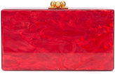 Edie Parker marbled effect clutch - women - Acrylic - One Size